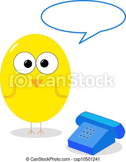 Bird with telephone  - csp10501241