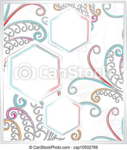 Fancy butterfly frame - csp10502769