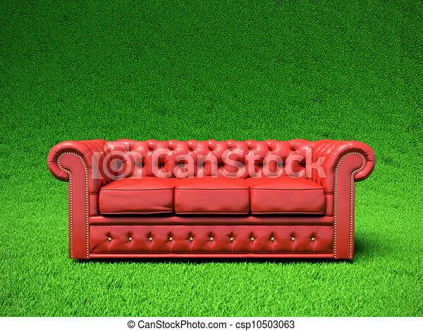 stock illustration von rotes leder sofa rotes. Black Bedroom Furniture Sets. Home Design Ideas