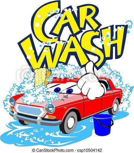 Eps Vector Of Car Wash Service Illustration Of Alive Car