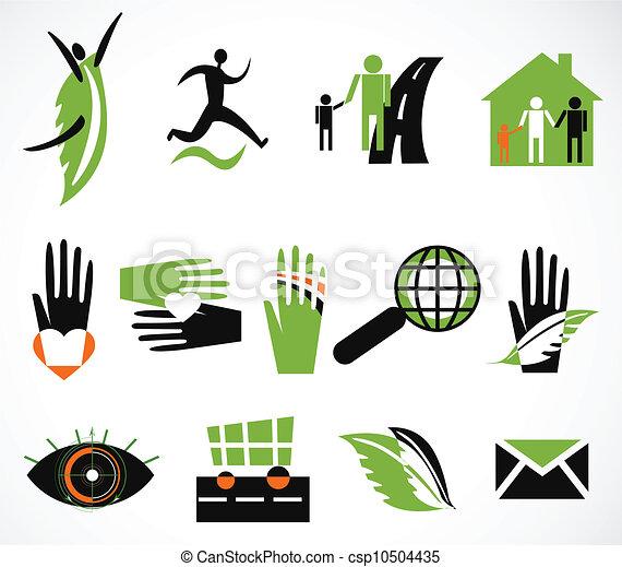 Collection creative icon. Vector illustration - csp10504435