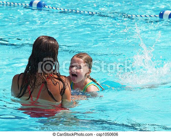 swim lesson girl - csp1050606