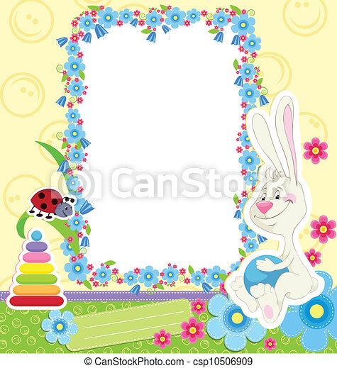 clipart vecteur de cadre enfants lapin children cadre lapin pour csp10506909. Black Bedroom Furniture Sets. Home Design Ideas