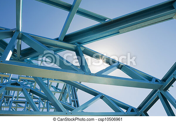New home construction framing. - csp10506961