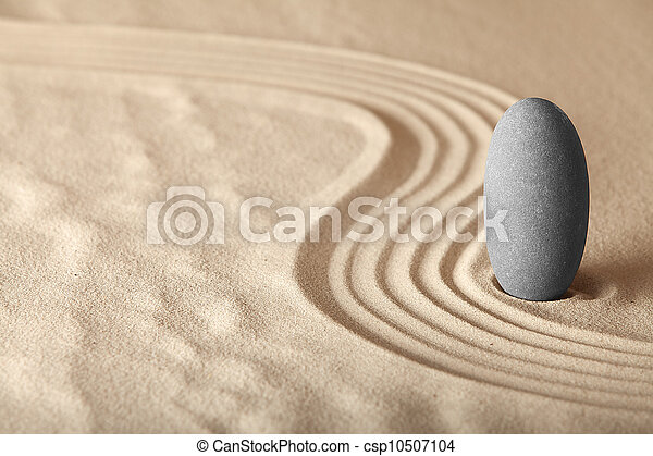 zen garden symplicity and harmony form a background for meditation and relaxation, for balance and health - csp10507104