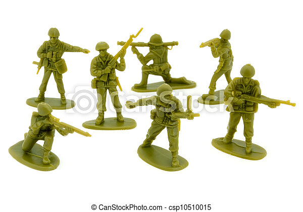 Group of plastic toy soldiers - csp10510015