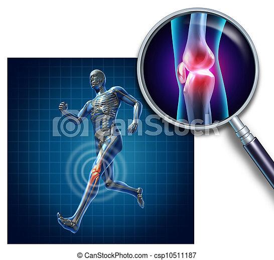 joelho, ferimento, esportes - csp10511187