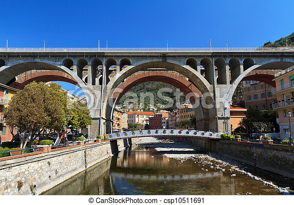 bridges in Sori, Italy - csp10511691
