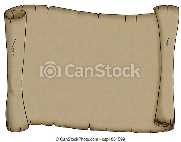 Blank Scroll - csp1051599