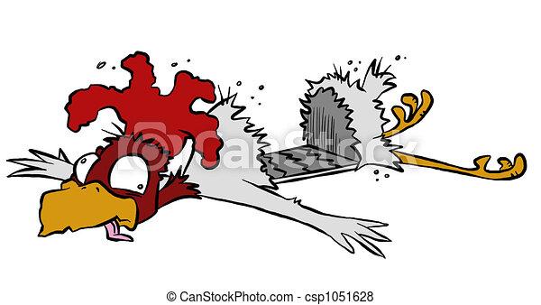 Roadkill Chicken - csp1051628