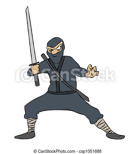 Illustration de ninja dessin anim a ninja sien p e pr t csp1051688 - Dessin anime ninja ...