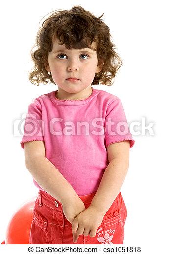 little ringlet girl - csp1051818