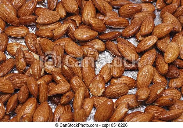 Maple Glazed Almonds - csp10518226