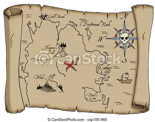 Pirate Treasure Map - csp1051865