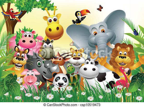 Illustrazioni vettoriali di divertente cartone animato - Animale cartone animato immagini gratis ...