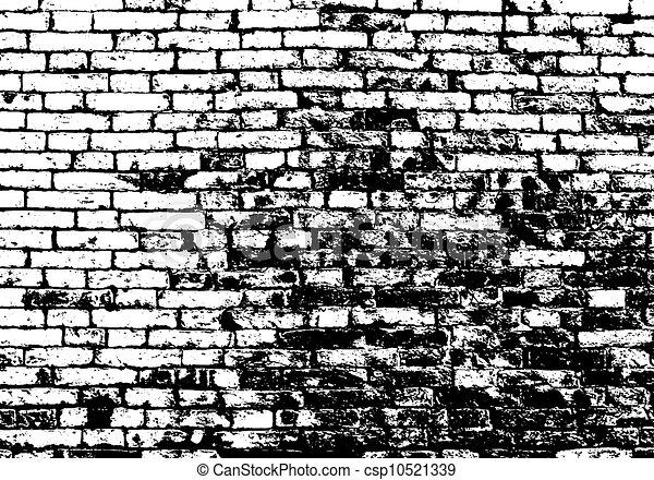 Vecteurs de grunge mur noir fond blanc brique - Mur de photos noir et blanc ...