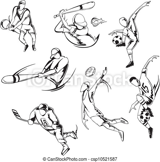 team sports csp10521587 - Sports Drawing Pictures