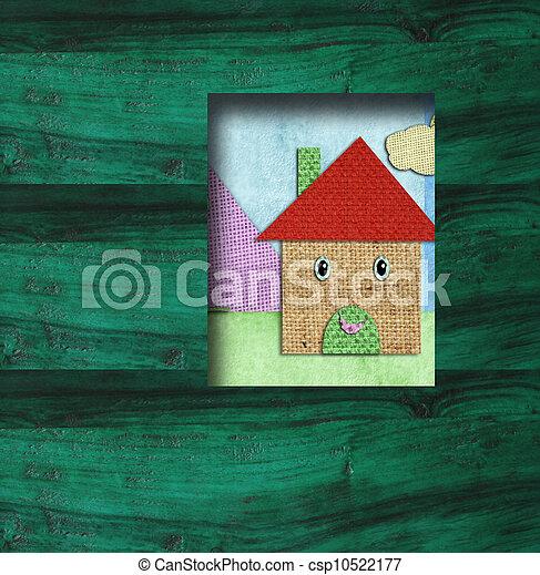 child background wooden little house scrapbooking - csp10522177