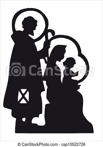 nativity silhouette - csp10522726