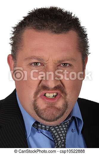 Portrait of angry man - csp10522888