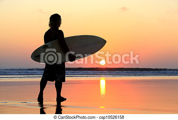 Surfer on sunset - csp10526158