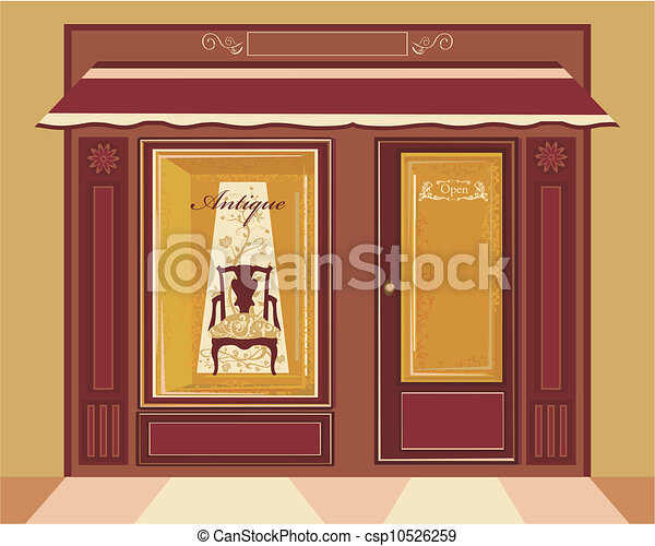 Store Doors Clipart clipart vector of antique shop - the antique style chair in store