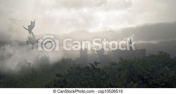 Misty Fantasy Forest - csp10526519