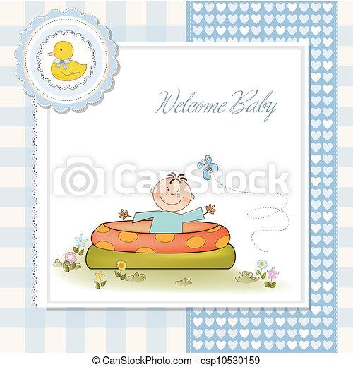 Vecteur clipart de b b baigner petit piscine douche for Prix piscine 3x5