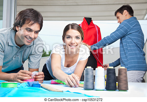 Fashion Designers Working Together - csp10531272