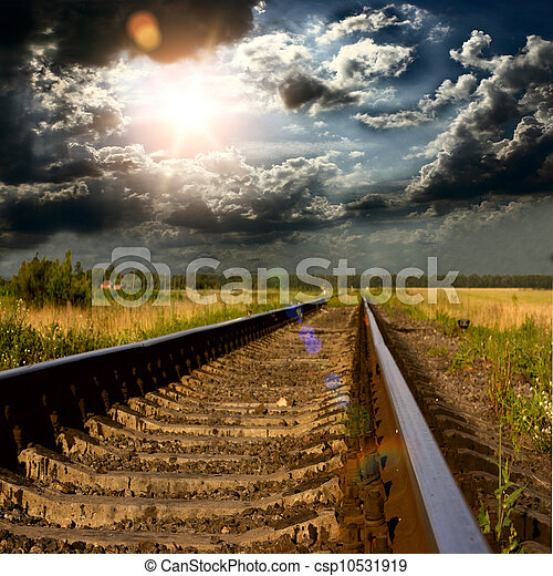 railway into the sunset - csp10531919