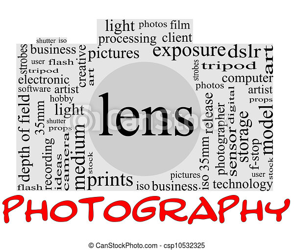 Photography Word Cloud Concept inside a camera shape with great terms ...: www.canstockphoto.com/photography-word-concept-in-camera-shape...