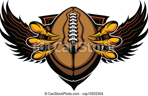 Eagle Football Talons and Claws Vector Illustration  - csp10533304