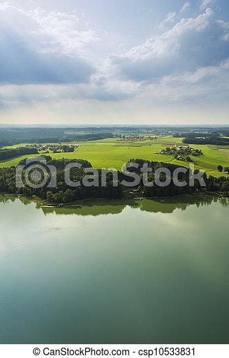 panoramic aerial view Bavaria - csp10533831