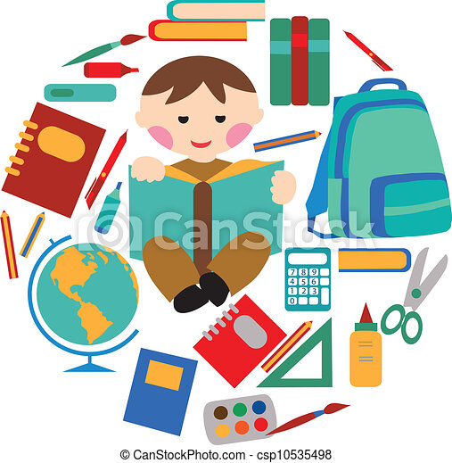 School and office supplies - csp10535498