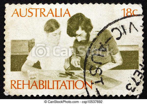 Postage stamp Australia 1972 Rehabilitation of the Handicapped - csp10537692