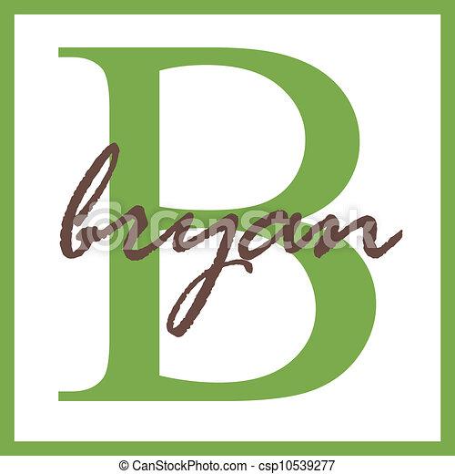 Bryan Name Monogram