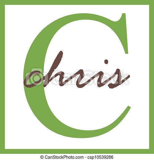 Stock Illustration of Chris Name Monogram - Name Monogram ...