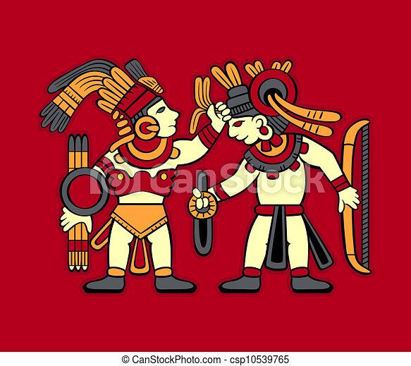Azteca Logo Vector Vector Azteca Guerreros