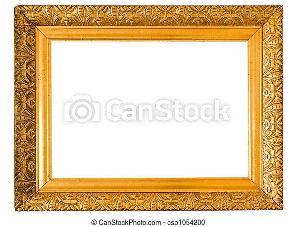 photographies de dor cadre vieux vieux bois cadre dor peint isol csp1054200. Black Bedroom Furniture Sets. Home Design Ideas