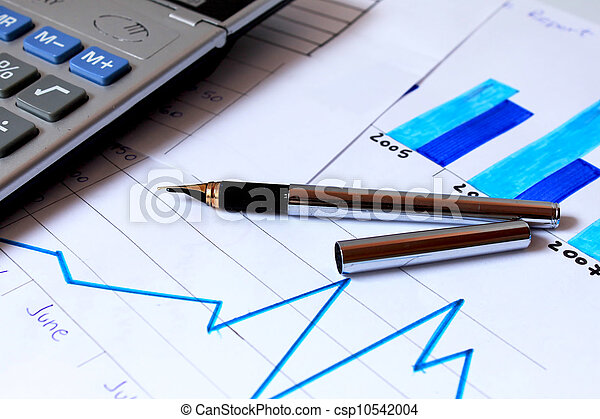 business chart showing financial growth - csp10542004