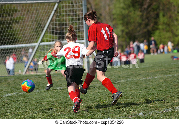 Youth Soccer Play - csp1054226