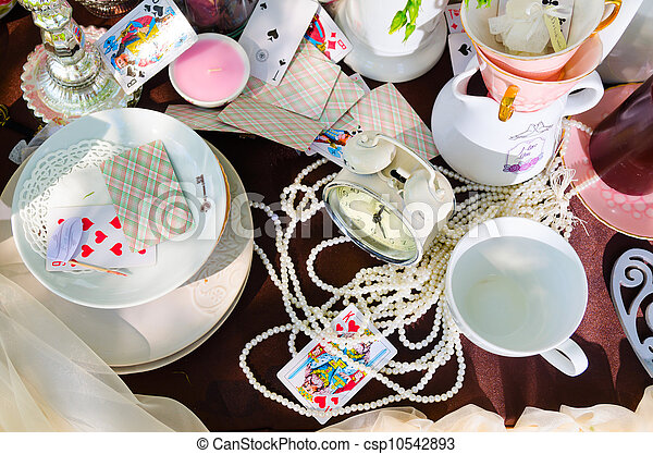 tea party in park - csp10542893