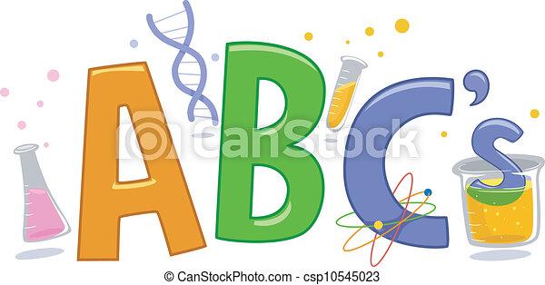 ciencia, alfabeto - csp10545023