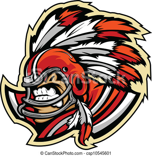 American Football Indian Chief - csp10545601