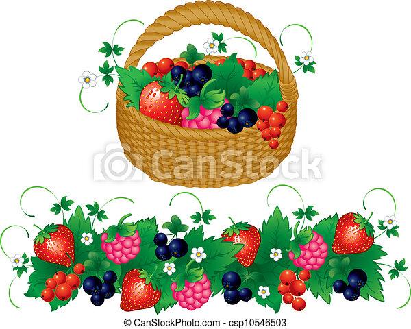 berry basket clip art � cliparts