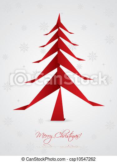 Vecteur no l salutation conception origami arbre banque d 39 illustrations illustrations - Arbre de noel origami ...