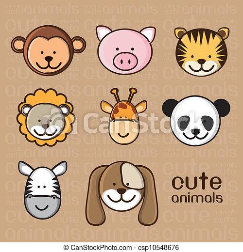 illustration of cute animals - csp10548676