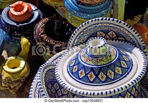 Tunisian ceramic objects - csp10548931