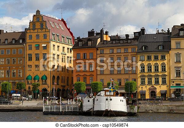 Gamla Stan - historic area of Stockholm - csp10549874