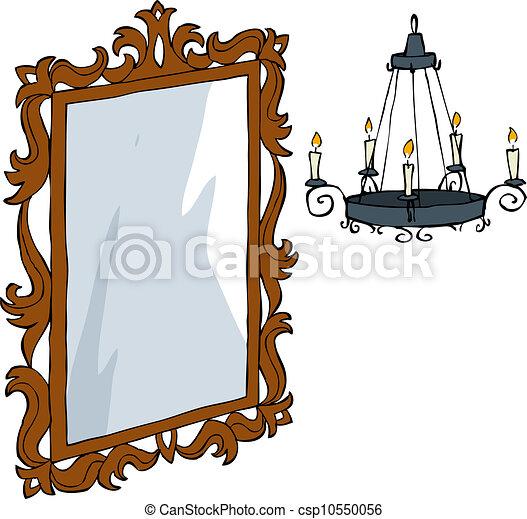 Vecteur Clipart De Lustre Miroir Mirror Et A Lustre